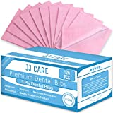 JJ CARE Premium Dental Bibs, Disposable 3 Ply Dental Patient Bib, Waterproof Tattoo Piercing, Adult Bibs, Dental Bib,Tray Cover, Waterproof Napkins & Dental Napkin (size 13'' x 18'') Pink, Pack of 125