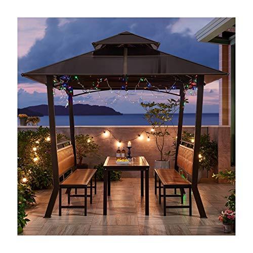 YYDD Villa Garden Furniture, Outdoor Gazebo Lawn Tent, Outdoor Gazebos for Patios with Desk, Garden Pavilion Backyard Canopy Gazebo, Ideal for BBQ, Party, Family Gathering