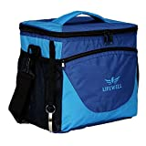 Lifewell Faltbare Kühltasche für 24 Dosen Gefriertruhe, weicher Kühler für Mittagessen, Party, Picknick, Strand Lebensmittel Konservierung