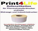 2238 Etiketten Etikettenrolle (Format 102mm x 76mm) unbedruckt Endless Label Paper (1 Rolle) High Quality Paper mit Querperforation - Kern : Ø 76mm – Rollenetiketten für Thermotransferdrucker. Labeldrucker