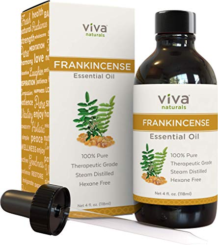 Frankincense Essential Oil Therapeutic Grade, 4 oz.| 100% Pure Boswellia Serrata Frankensence Essential Oil, Third-Party Tested for Quality & Purity