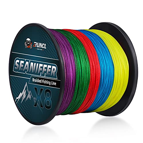 RUNCL 8 Strands Braided Fishing Line, 10M Per Color, Ultra Smooth...