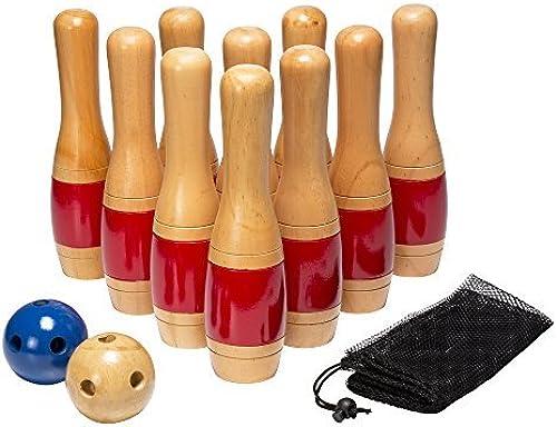 online barato Hey  Play  Wooden Lawn Lawn Lawn Bowling Set, 11 by Hey  Play   Las ventas en línea ahorran un 70%.