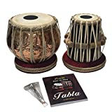 Satnam COPPER Bayan Hand Crafted Copper Tabla Drum Set for Beginners with Tabla Set Gig Bag | Tabla Set Hammer | Tabla Set - Music Book | Tabla Cushions and Cover - Indian Musical Instrument