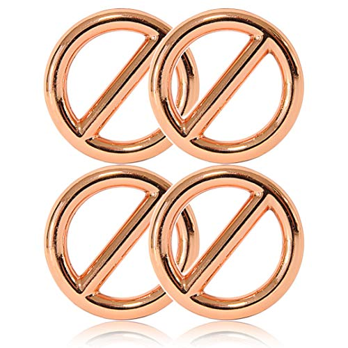 Ganzoo O - Ring mit Steg aus Stahl, 4er Set, DIY Hunde-Leine/Hunde-Halsband, nichtrostend, Steg-Ring ideal mit Paracord 550, geschweißt, Farbe: roségold