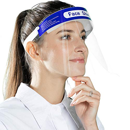 8PCS Face Shield Full-Coverage Personal-Protective - Direct Splash Maks Rescue Breathing 13''x 9''