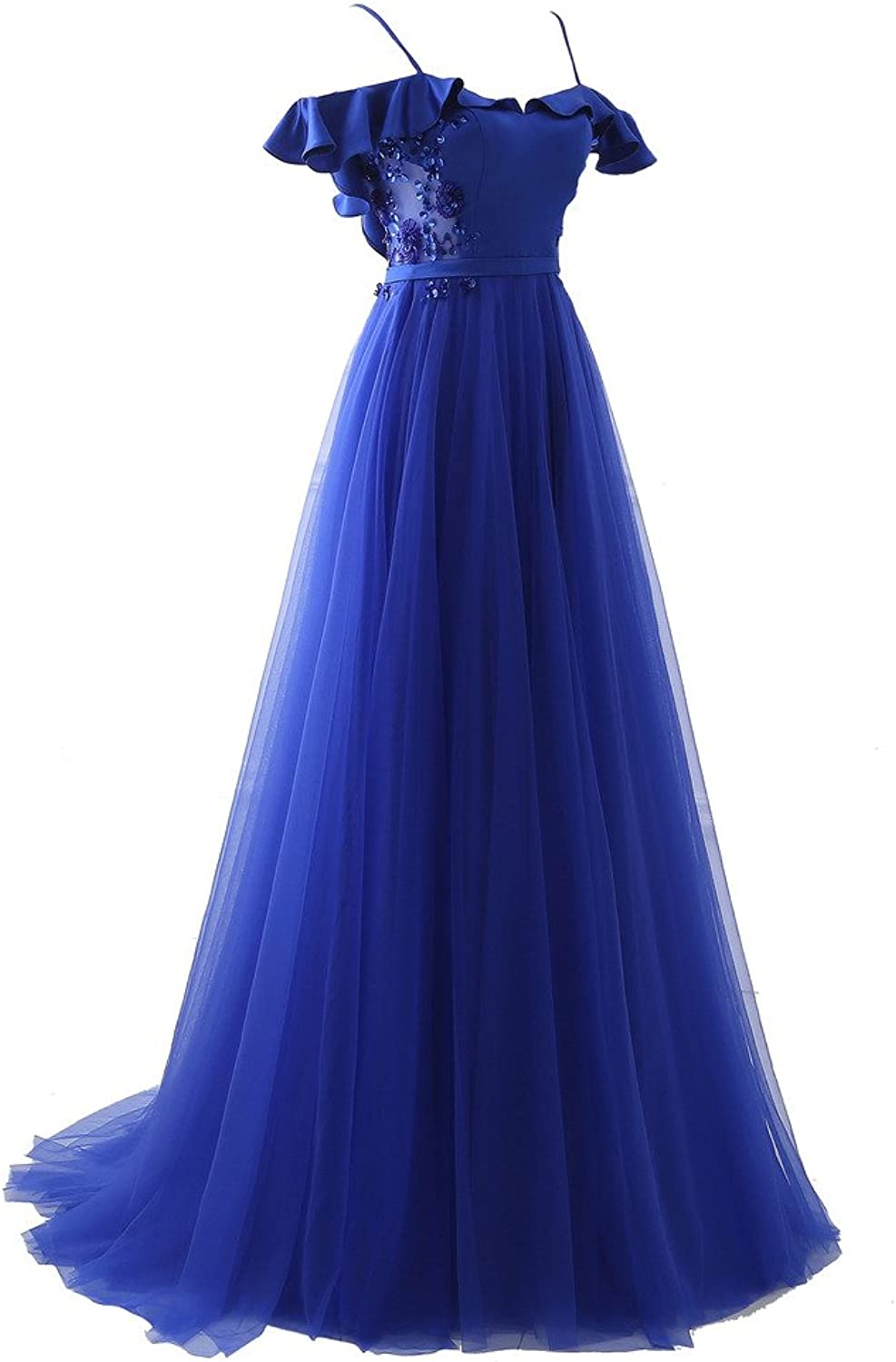 PuTao Women's Spaghetti Straps Sequis Party Prom Evening Gowns