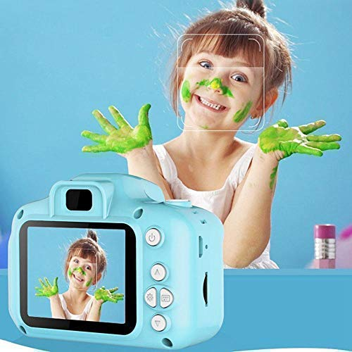Saleshop365® Kids Camera Children Digital Cameras for Girls Birthday Toy Gifts 4-12 Year Old Kid Action Camera Toddler Video Recorder 1080P IPS 2 Inch Shockproof
