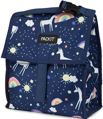 PackIt Freezable Lunch Bag with Zip Closure Unicorn Sky