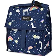 PackIt Freezable Lunch Bag with Zip Closure, Unicorn Sky