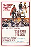 Theissen IT-00179 Vintage The Good The Bad And The Ugly Clint Eastwood Film Reproduction ? Matte Poster encadré Gift 11 x 17 pouces (28 x 43 cm)