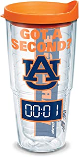 Tervis Auburn Tigers Got A Second? Tumbler with Wrap and Orange Lid 24oz, Clear