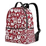 Mochila roja de Navidad para mujeres adolescentes y niñas, bolso de moda, bolsa de libros para niños, viajes, universidad, casual, para niños preescolares, regreso a casa, suministros mini