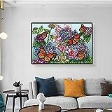 YuanMinglu Abstrakte Aquarell-Leinwanddrucke der Wandkunst Rouge rosa Tropische dekorative Plakate und Drucke auf der Wand rahmenloses Gemälde 60X90CM