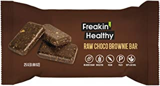 Freakin Healthy Raw Choco Brownie Snack Bar 25g, Gluten Free, Vegan and Healthy Snacks