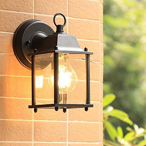 E27 Lámpara de pared rústica antigua impermeable, candelabro iluminado al aire libre Aplique de pared de pasillo Aplique de...