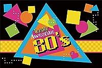 新しい80年代パーティーの背景抽象音楽写真の背景7x5ftロックスター歌手誕生日80年代カラオケパーティー子供若者大人肖像写真撮影デジタル壁紙