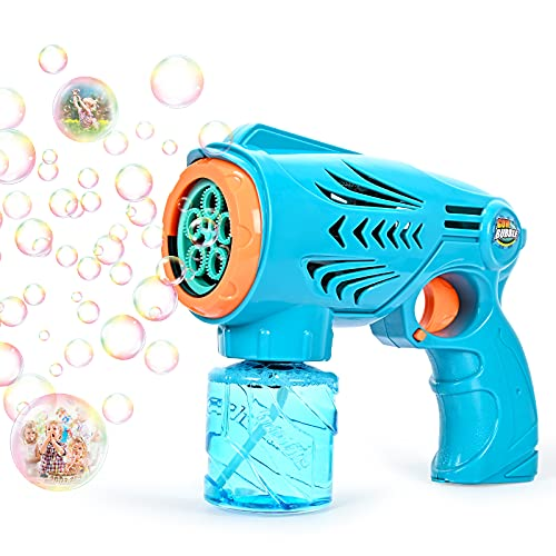 Chak's Choice Kids Bubble Machine Blower Toys for Age 3+ Toddlers Automatic Portable Bubble Machine 1200+ Bubbles Per Minute Boys Girls Baby Bath Toys Indoor Outdoor Party Needed 3 AA Batteries