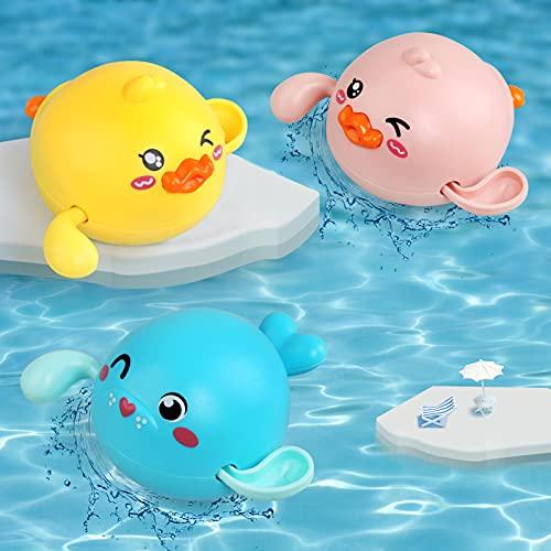 LinStyle Juguetes Bañera, Juguetes Baño Bebe, 3 Pcs Juguetes Niños 2 3 4 5 Años, Juguetes Piscina, Regalos para Bebes Niños
