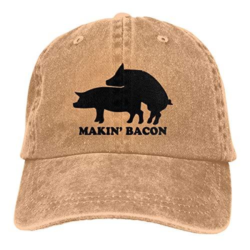 Makin' Bacon Jeans Cap Baseball Cap Mens Womens Classic Adjustable Polo Style Baseball Cap