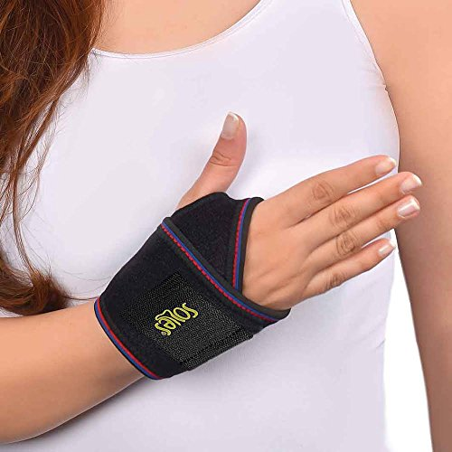 Soles Neoprene Wrist Bandage Support Breathable Neoprene Extreme Comfort One Size Fits All Fits Both Wrists Soft Flexible Comfortable Brace Reduces Pain and Prevents Injuries