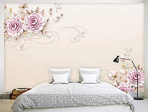 Modern Flower Pink Simple for Walls Murals Wallpaper Custom 3D Wallpaper Paste Living Room The Wall for Bedroom Mural border-350cm×256cm