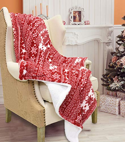 Catalonia Snow Flake Decorative Christmas Throw Blanket