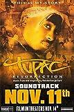 Tupac Resurrection Original Einseitig Filmplakat -