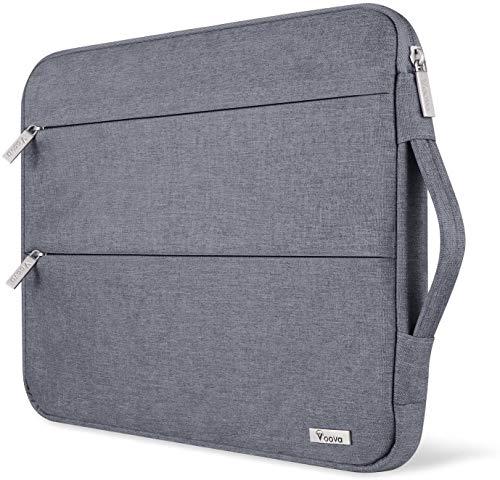 """Voova Housse Sacoche Ordinateur 14 15.6 Pouces avec Poignée, Pochette Portable étanche pour 16"""" Macbook Pro 2020/15"""" Surface Book 2 3/ Dell XPS 15/ ASUS/Acer/HP/Samsung Chromebook-Gris"""