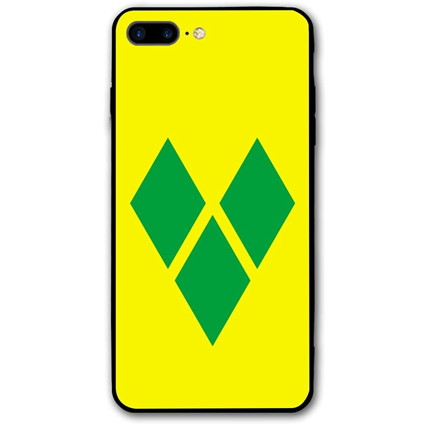 Saint Vincent And The Grenadines Flag IPhone 8 Plus/Iphone 7 Plus Phone Case,Hard PC Protective Durable Flexible Mobile Phone Shell,Slim 3D Print Back Cover 5.5 Inch For Iphone 7P/8P