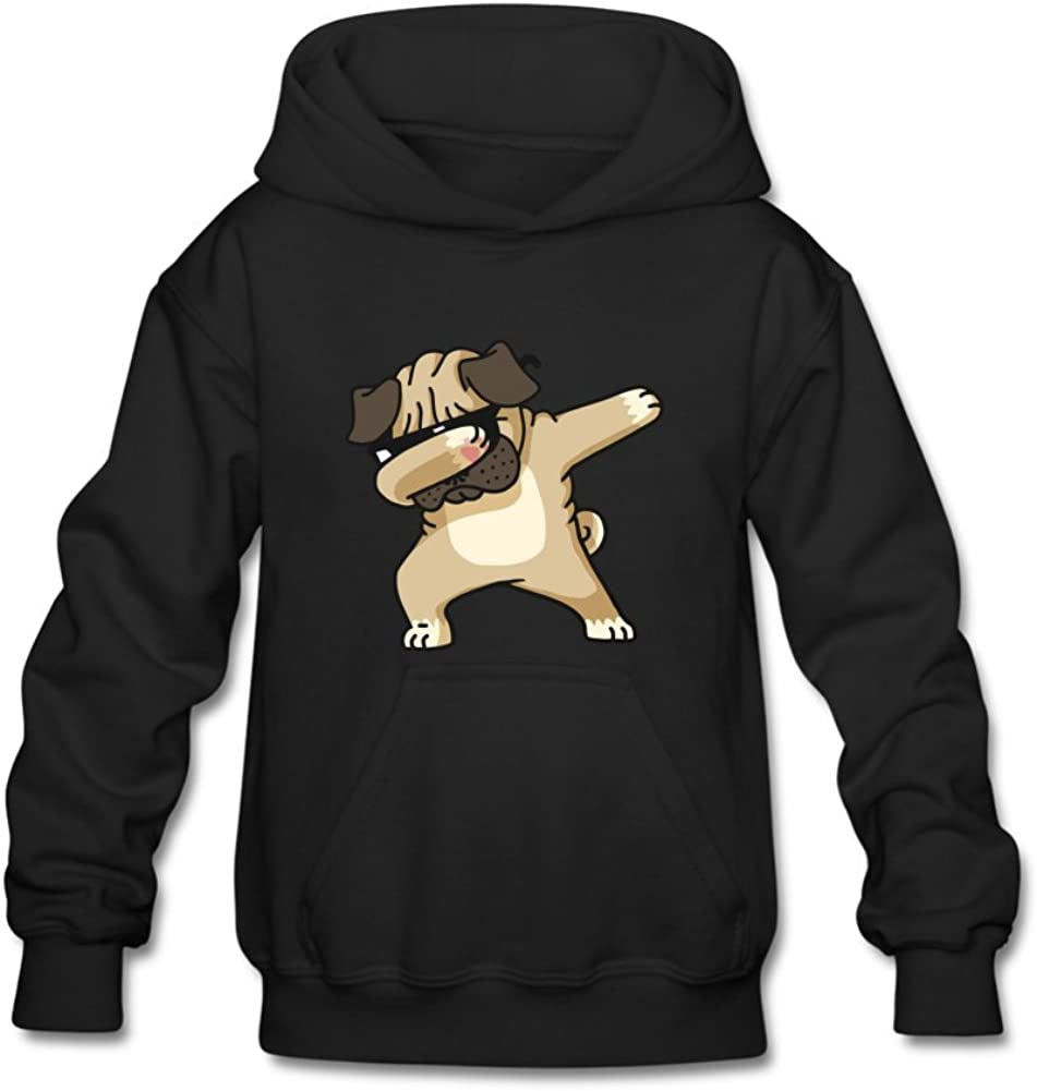 iCoup Aliensee Youth Cool Dabbing Dog Puppy Hoodie Sweatshirt Suitable for 10-15yr Old