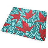 Bikofhd Changing Pad Cranes Origami Scales Waves Portable Diaper Changing Pad - for Baby Showers Changing Mats and Reusable Detachable Wipe Able Mat- Unisex