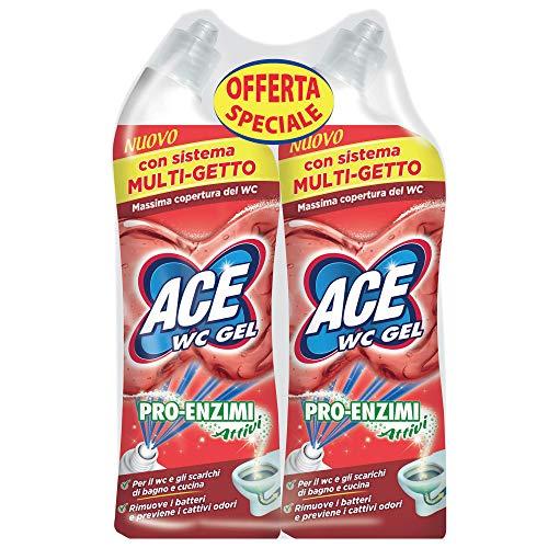 Ace Wc Gel Pro-Enzimi, 2 Confezioni da 700 ml