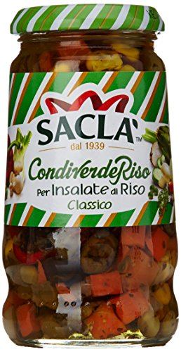 Saclà - Condiverde Riso, Classico, Condimento Pronto per Insalate di Riso a Base di Verdure in Olio di Semi di Girasole - 580 g