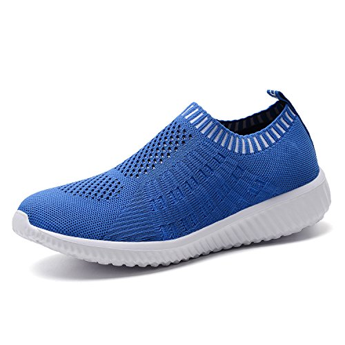 TIOSEBON Women's Athletic Walking Shoes Casual Mesh-Comfortable Work Sneakers 8.5 US Blue