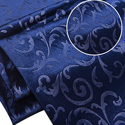 MUYUNXI Tela De Terciopelo Suave para Coser De Chaquetas Decoración Decoración del Hogar Cortinas Tapicería Vestido Sillas 145 Cm De Ancho Vendido por 2 Metro(Color:Azul Marino)