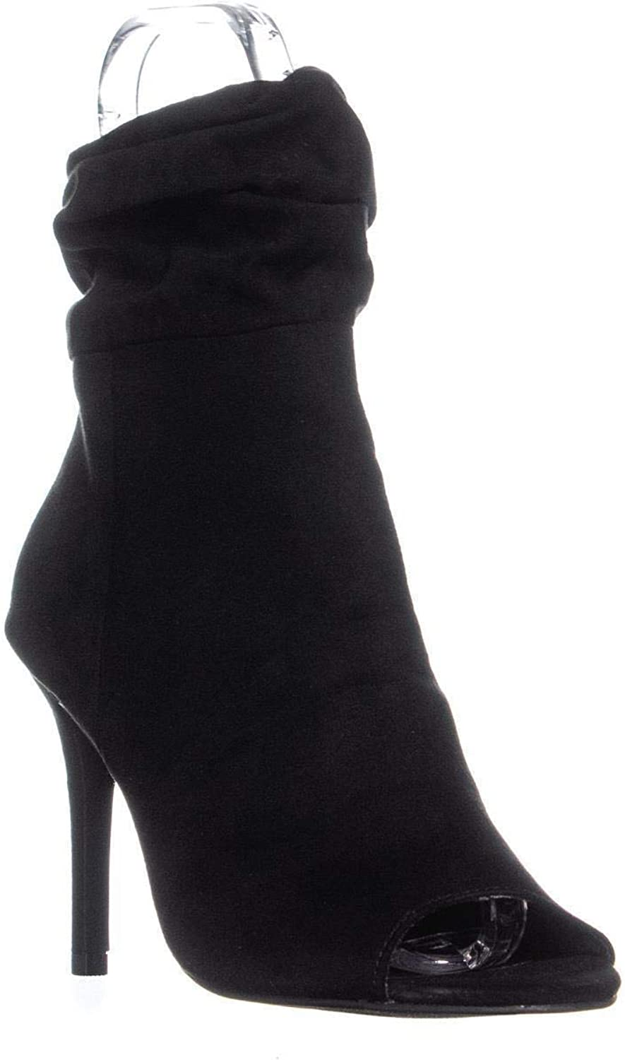 Material Girl Womens Petra Peep Toe Mid-Calf Fashion Boots