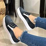 CTEJ Primavera y Verano Denim Zapatos de Lona de la versión Zapatos de Mujer de Suela Gruesa Calzado de Mujer Perezosos,03,37