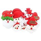 kowaku 10pcs Santa Claus Snowman Parches de Navidad Acolchado Fieltro Apliques Accesorios