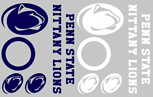Penn State Nittany Lions Cornhole Decal Set - FREE circles and 4 FREE Car Window Decals