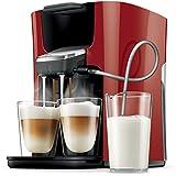 Zwei Getränke mit Milch auf einmal Leicht zu reinigendes System Vier Kaffeespezialitäten mit frischer Milch Individuell einstellbare Kaffeestärke: mild oder normal Lieferumfang: Philips Senseo Kaffepadmaschine mit Milchschlauch, Kaffeepadhalter für 1...