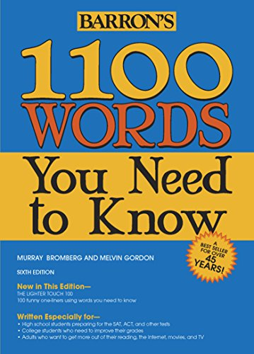 1100 Words You Need to Know (Barron's 1100 Words You Need...