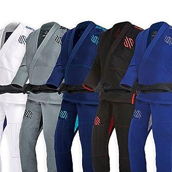 Sanabul Essentials V.2 Ultra Light Preshrunk BJJ Jiu Jitsu Gi  Blue A2   See Special Sizing Guide