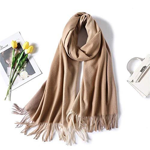 HUAHUA bufandas Caliente del otoño y del invierno bufandas, Pañuelo-mantón de la bufanda del babero del mantón Capa de otoño e invierno bufanda de la cachemira imitación femenino cambiable Mantón de l