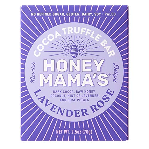 Honey Mama's, Cocoa Truffle Bar, Multi-Serve Refrigerated Snack (Pack of 12), flavor, Lavender Rose