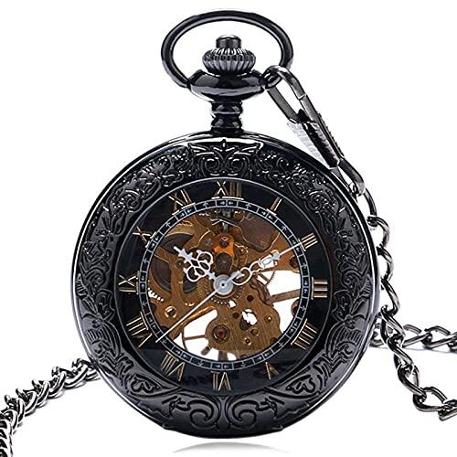 SGSG Reloj de Bolsillo mecánico Steampunk para Hombre con Cadena