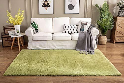 Ommda Alfombras Modernas Salon Grandes Pelo Corto Antideslizante Habitacion Shaggy Alfombras Dormitorios Rectángulo Lavables Pasto Verde 130x190cm