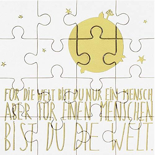 Räder Puzzlekarte mit Umschlag Für die Welt bist Du EIN Mensch.