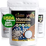 Organic Mucuna Pruriens Powder 1 Pound(454GRAMS)  USDA Certified Booster Depression Supplements   Pure and Natural Velvet Beans Extract   Vegan-Friendly Mood Stabilizer for Brain Health