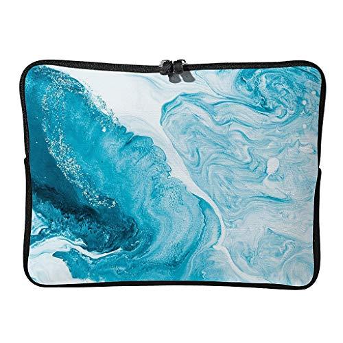 Bolsas para portátil con textura de mármol estándar, reutilizables, de primera clase, para portátil, diseño moderno, White (Blanco) - Mobiliarbusshi-dnb
